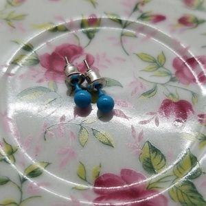👜 Ball stud earrings Color Blue